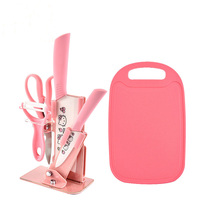 Hotsale 6 Piece Ceramic Knife Set Kitchen Knife Set With Plastic Cutting Board Knife Gift Set
