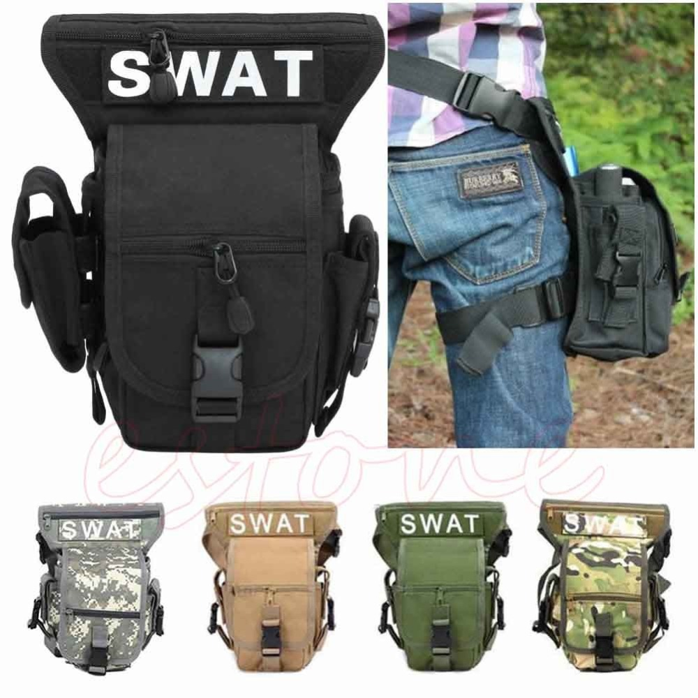 Hot Military Travel Shoulder Waist Fanny Pack Drop Leg Thigh Messenger Bag drop shoulder hoodie