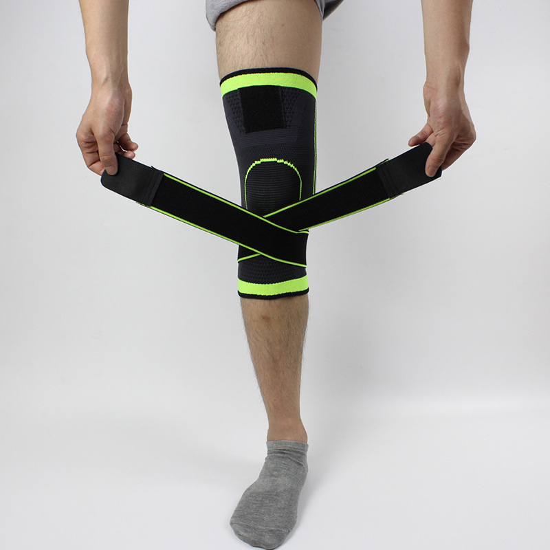 1Piece Knee Support 3D Weaving Pressurization Brace Cycling Knee Support + Ankle Support Sports Pad P15