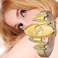 AFFUTE Бренд Роскошные Кожаные Женские Часы Золото Дизайн Моды Браслет Часы Дамы Платье Наручные Часы Relogio Femininos