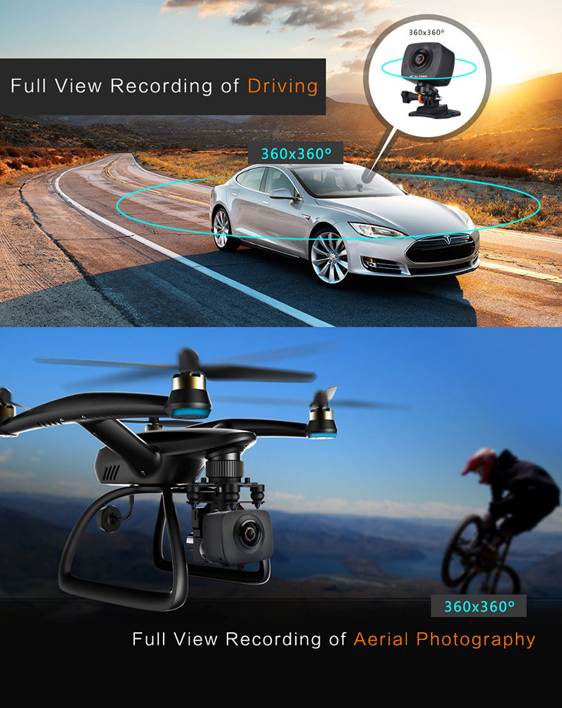 Magicsee 360 Degree Action camera Dual Lens Wifi 1080P FHD 360 degree  camera +Mgicsee M1 all in one VR 3D Glasses-in 360° Video Camera from  Consumer