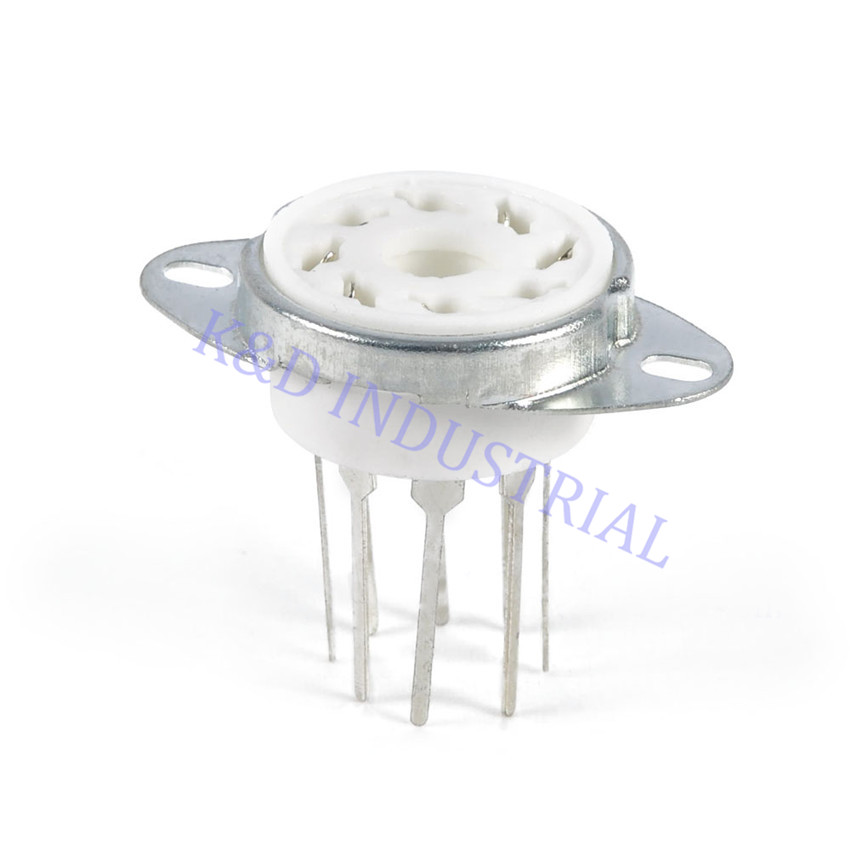 5pcs Ceramic Tube Socket K8A 8Pin PCB Long Feet W Bracket 6550 EL34 6SN7 KT88 6L in Smart Power Socket Plug from Consumer Electronics