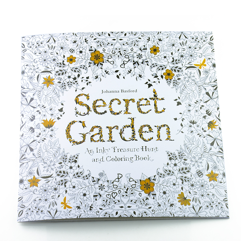 24 Pages Secret Garden English Edition Coloring Book For