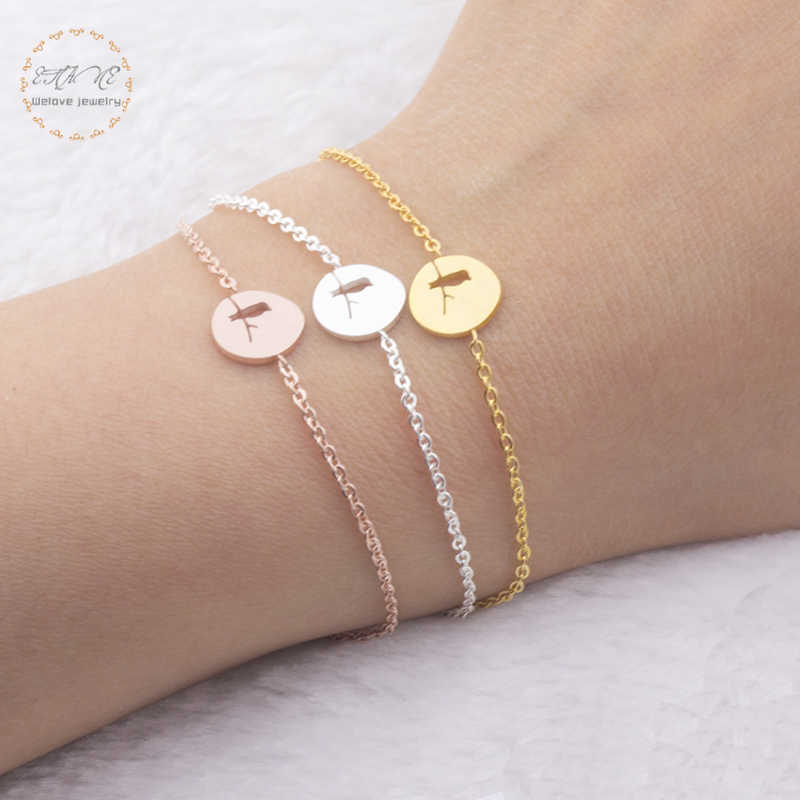 Friendship Jewelry Stainless Steel Chain Best Friends Bracelets Rose Gold Color Love Bird Charm Bracelet Gift For Women 2017