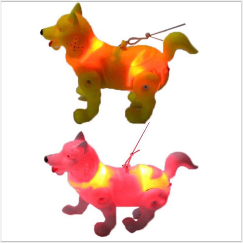 Leashing Wolf Dog Glowing Music Electric Dog Crawling Pet Universal Dog Child Toy