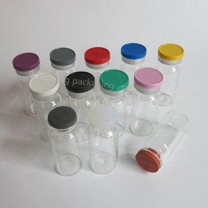Image 4 - 500 × 10ミリリットルクリアアンバー注入ガラスバイアルとプラスチックアルミCap1/3オンス透明ガラスボトル10ccガラス容器