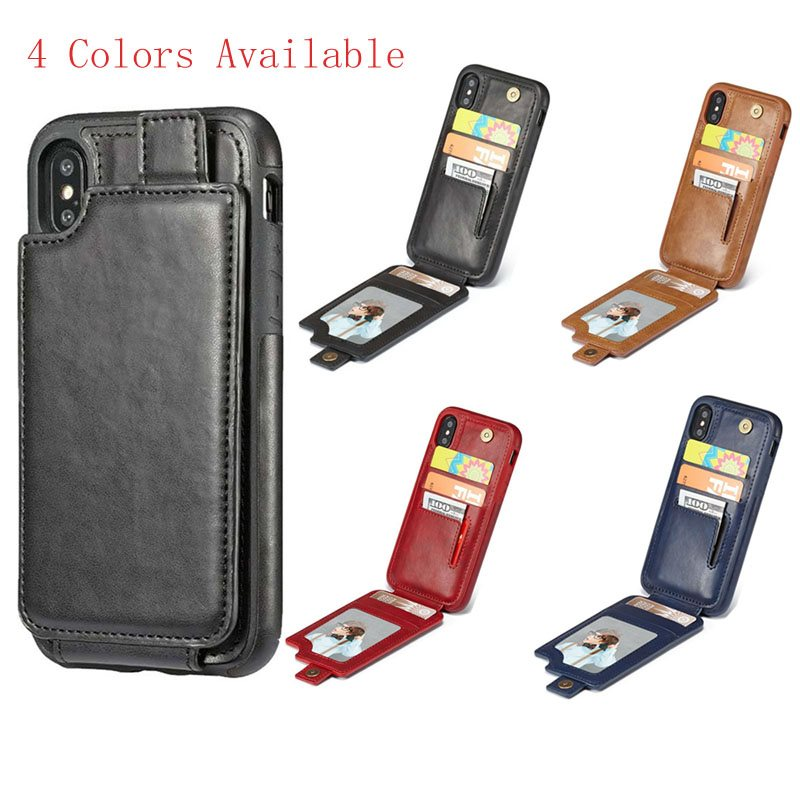 For IPhone X Wallet Case, Ultra Slim Magnetic PU Leather