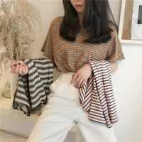 pretty girls shortSleeve Grid Hot Drilling Rhinestone casual Tops stripe shirts Perspective handsome Korean top корейский стиль