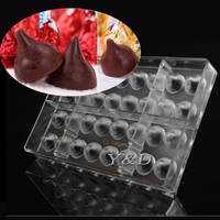 Öpücük Kisses Meme PC Çikolata Kalıp jöle Puding Pişirme Kalıp DIY Plastik Polikarbonat Şeffaf formu PC Plastik Pişirme Tepsisi