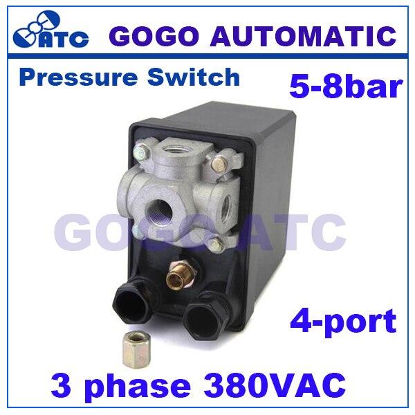 High Quality 175psi 10bar 380v 20a 3 Phase 4 Port Air
