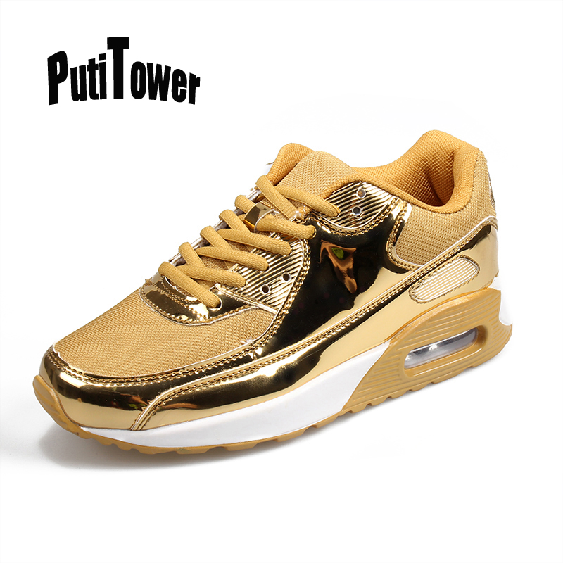 Cushion Men Women Running Shoes Comfortable Luxury Super Brand Sneakers High Quality Jogging Trainers Chaussure Homme Gold 668