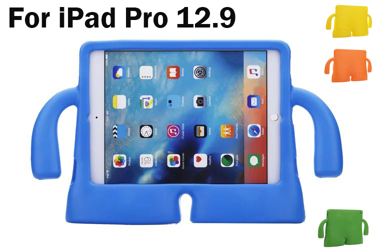 Tablet Protective Cover Case For iPad Pro 12.9 EVA Foam Shockproof washable Children Kids Cute case for A1584 A1652 skin+Gifts kids handle stand eva shockproof new tablet cover case for 9 7 inch ipad 2 3 4 air3 ipad pro 9 7 tablet best for kids gift