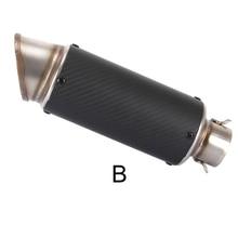 Motorcycle Exhaust Muffler Pipe Exhuast Pipe Carbon fiber 2.4inch For KTM 821 Monster/Dark/Stripe 690 Duke/SMC/SMCR