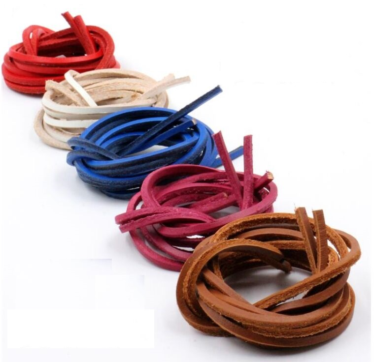2018 New Fashion! 1 Pair Rawhide Leather Wear-resistant Belt Shoelaces Strings Adjustable For Boots Promotion