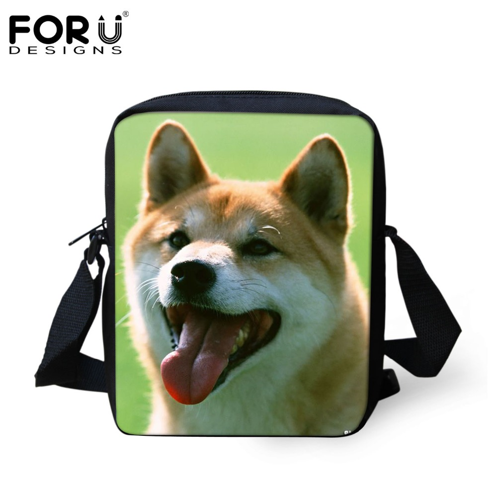 Puppy Akita Dog Printing Cross Body Small Travel Shoulder New Bag Women Girls Boys Cute Canvas Messenger Bags Brand Bolsos Mujer akita 3060 14w