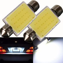 Kit lampada torpedo led p/carro cob led 41-42mm teto/placa/porta malas para carro bulbo