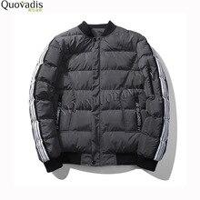 Winter coat male New Pattern Man Down Cotton European casual Fashion Stand Lead Jacket men Cotton parka