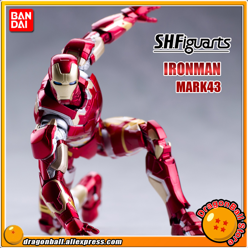 Marvel The Avengers 2 Age of Ultron Original BANDAI Tamashii Nations SHF/ S.H.Figuarts Action Figure - Iron Man MK43 / Mark 43 xinduplan marvel shield iron man avengers age of ultron mk45 limited edition human face movable action figure 30cm model 0778