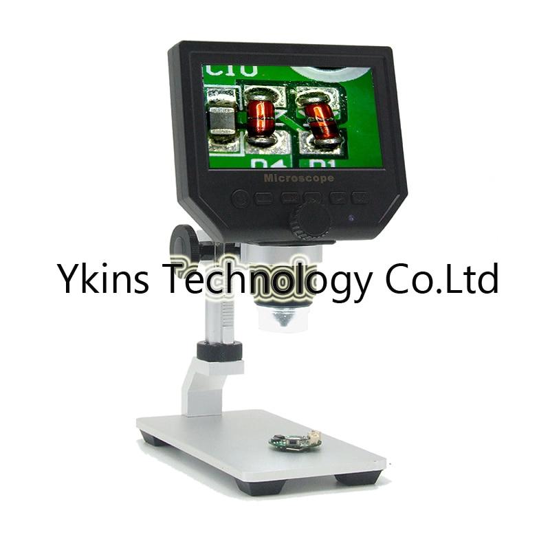 1 600x G600 microscopio digital microscope equipment video camera 4.3 inches liquid crystal HD 3.6 mp, 1080P /720P