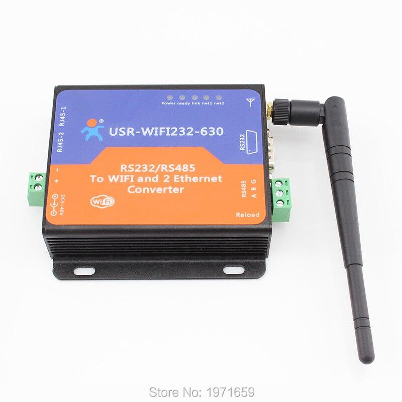 Convertisseur RS232 RS485 vers Wifi/Ethernet, serveur série avec 2 pages web intégrées avec prise en charge RJ45 et Modbus TCP/RTU