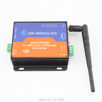 RS232 RS485 To Wifi Ethernet Converter Serial Server With 2 RJ45 Support Built In Webpage And