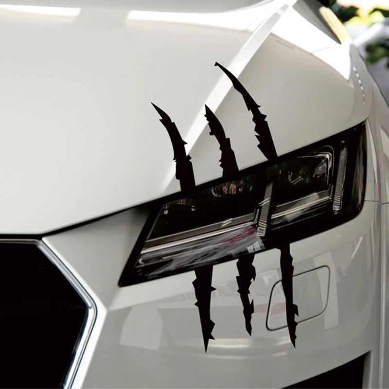 40cm X 12cm Grappige Auto Sticker Reflecterende Monster Kras Streep Klauw Merken Auto Auto Koplamp Decoratie Vinyl Decal auto Stickers