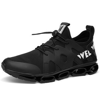 Blade Fighter Running Shoes Men Summer New Mesh Breathable Shock-absorbing Running shoes Wear All Black Sports shoes 39-44