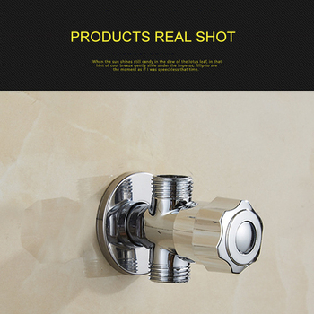 165g Full Copper Basin Bathroom Thickened Long Triangle Valve Hot And Cold Water Stop Valve Three-Way Angle Valve Switch copper plated hot and cold water triangle valve water heater toilet faucet switch angle valve universal accessories