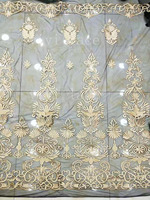 yf012# new arrive 5yards/bag sexy gold 3d glue embroidery black tulle mesh lace for sawing bridal wedding dress