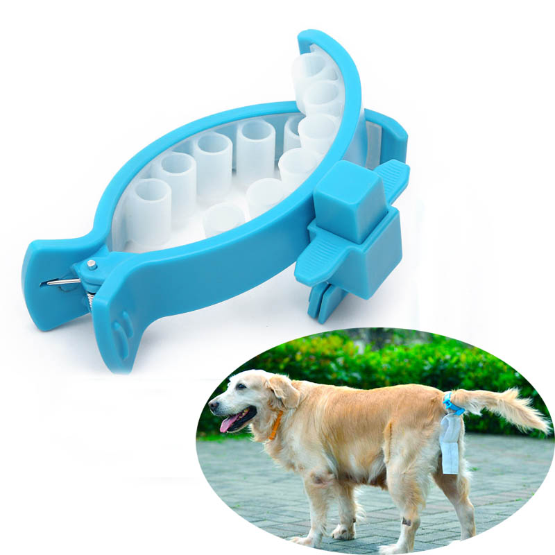 Portable Goods for Pets Waste Poop Bag With Tail Clip Dogs Toilets Holder with 20Pcs Garbage Bags Dog Cat Cleaning Tool Supplies