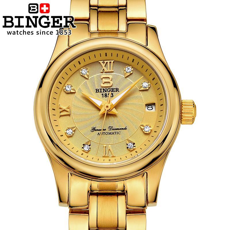 Dameshorloges Luxe merk Zwitserland BINGER 18K goud mechanisch - Dameshorloges - Foto 4