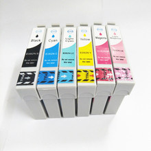 цена на T0821 - T0826 T0821N Ink Cartridge for Epson T50 T59 TX650 TX800 TX710W R270 R270 R290 R295 R390 RX590 RX610 RX615 Printer