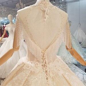 Image 4 - Aijingyu 짧은 드레스 웨딩 온라인 중국 상점 진짜 샘플 신부 사용자 정의 스페인 컬러 가운 인도네시아 서양 결혼식