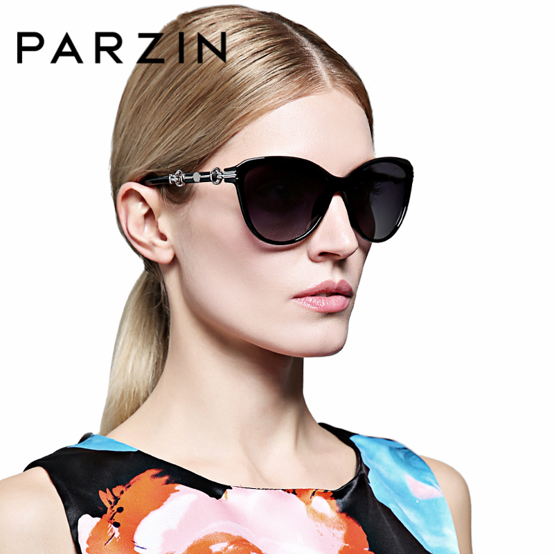 PARZIN New Summer Luxury Women s Sunglasses Brand Designer Elegant Eyewear Spectacles with Logo Box 9500
