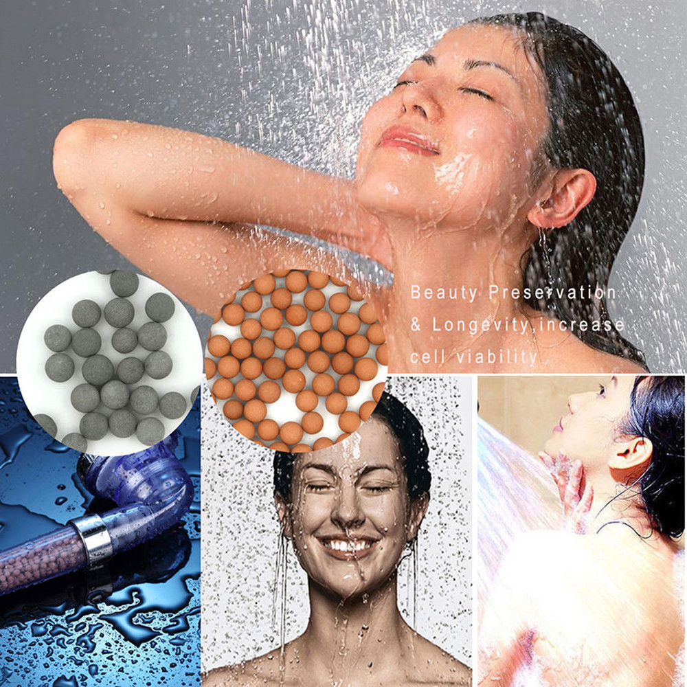 Image 5 - Bath High Quality Shower Head High Pressure Boosting Water Saving Filter Balls Beads Utility Head With Negative Ion Activated-in Shower Heads from Home Improvement