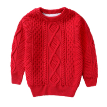 children Winter Clothes Warm baby boys Girls sweater for 2 4 6 8 10 Years Cashmere Pullovers plush inside Knitted Loose jacket children autumn and winter warm clothes boys and girls thick cashmere sweaters