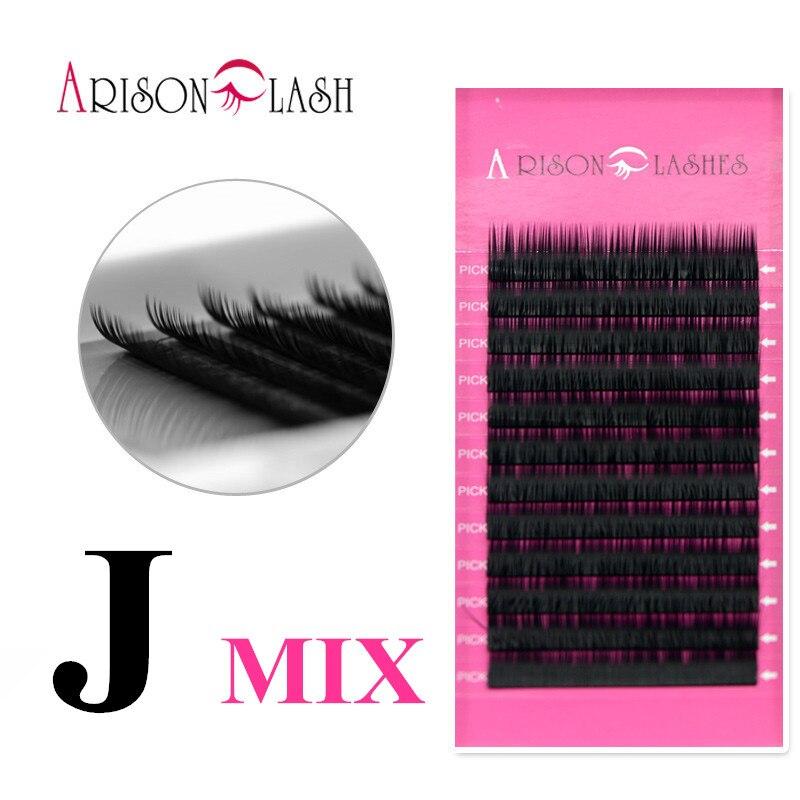ARISON 1 Case J MIX korean eyelashes thick lashes length fake eyelashes make up eye lashes wispies eyelashes Arison eyelash