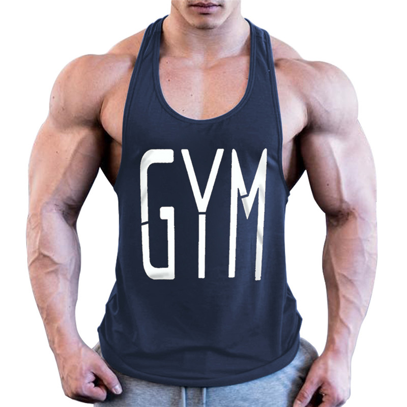 2019 Men GYM   Tank     Top   New Brand Cotton High Quality Undershirt Bodybuilding Singlet Fitness Sleeveless Vest Men   Tank     Top