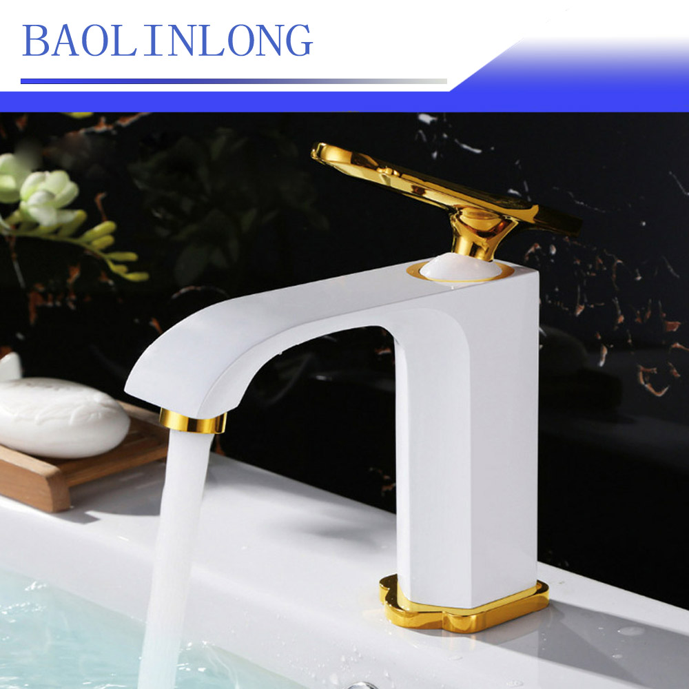 BAOLINLONG Baking Finish Styling Brass Deck Mount Bathroom Faucets Vanity Vessel Sinks Mixer Basin faucet Tap