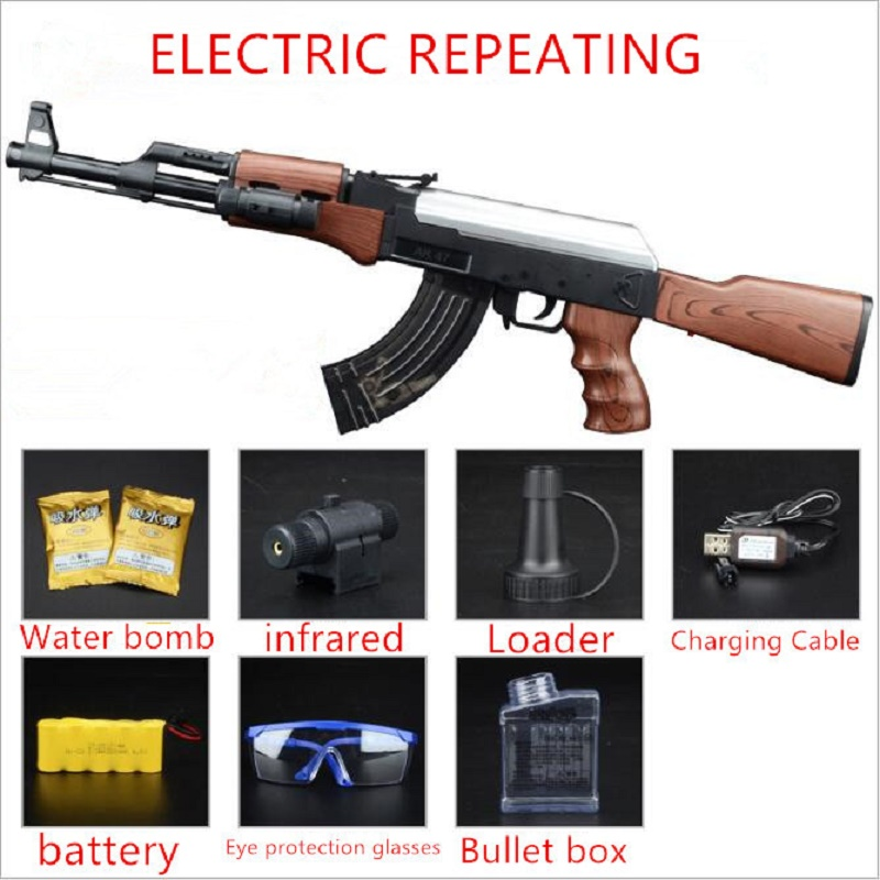 AK47 Electric Toy GUN Water Bullet Bursts Gun Live CS Assault Snipe Weapon Outdoor Pistol Toys airsoft air guns Toys mini wrist squirt water gun gaming toys for outdoor