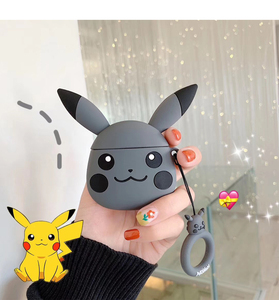 Image 3 - Applicable to Airpods1 cartoon silicone case AirPods2 skin protection cover Bluetooth wireless earphone box cute