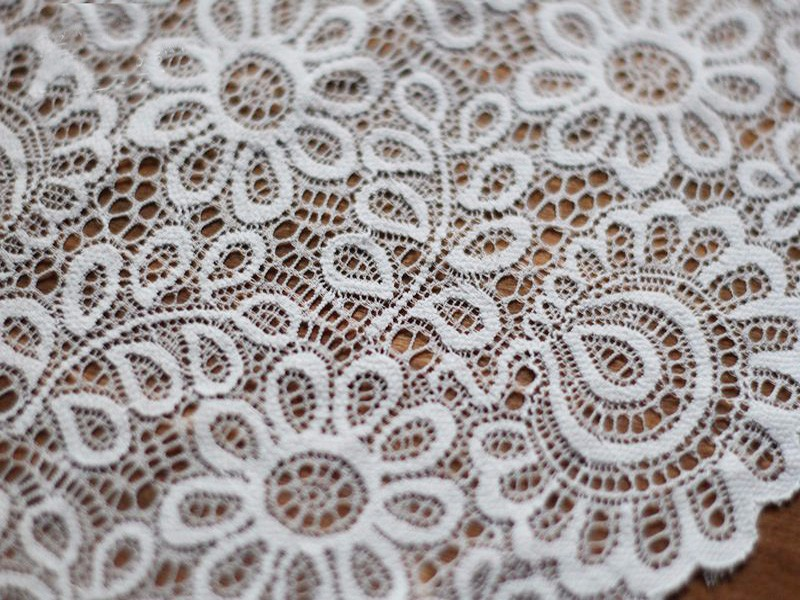 HTB12eFvbmMmBKNjSZTEq6ysKpXa4 New Arrival 3Yards 22cm Black White Lace Fabric DIY Crafts Sewing Suppies Decoration Accessories For Garments Elastic Lace Trim