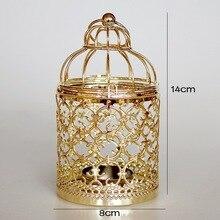 Metal Bird Cage Wedding Candle Holder