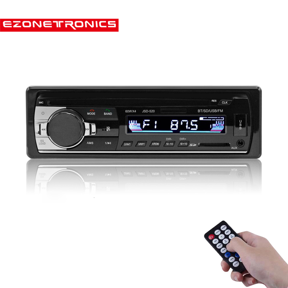 Free shipping <font><b>Car</b></font> FM and <font><b>MP3</b></font> MP4 Bluetooth Stereo Radio Receiver Aux <font><b>with</b></font> <font><b>USB</b></font> <font><b>Port</b></font> and <font><b>SD</b></font> <font><b>Card</b></font> music Universal <font><b>player</b></font> JSD520 image