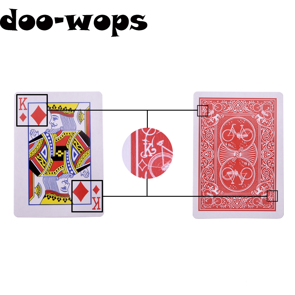 Marked Stripper Deck Playing Cards Poker Magic Tricks Close Up Street Illusion Gimmick Mentalism Kid Child Puzzle Toy Magia Card image