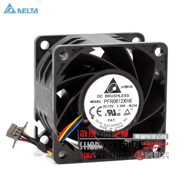 US $12 06 29% OFF|new Delta 6038 PFR0612XHE DC 12V 3 30A ultra violent  strong air flow high speed axial fan-in Fans & Cooling from Computer &  Office