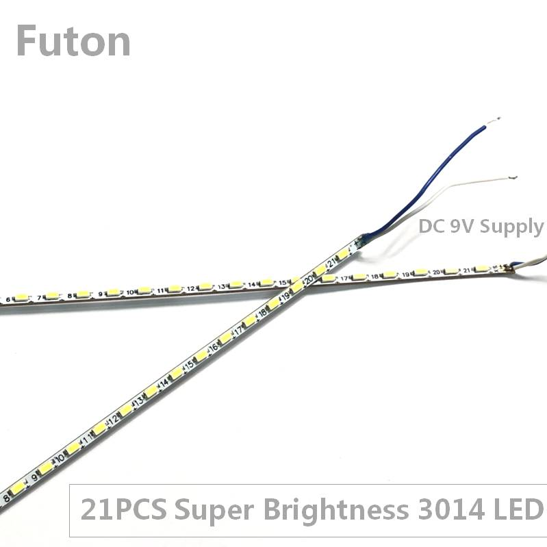 DC 9V Operated Ultra Thin And Super Brightness LED Bar Light With 21PCS SMD3014 LED For TFT Display Backlight DIY in LED Bar Lights from Lights Lighting