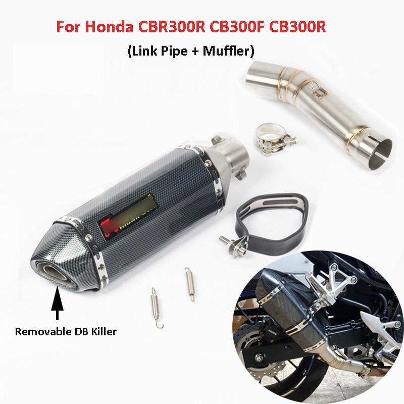 CB500X CB500F CBR500 Motorcycle Exhaust System Mid Link Pipe Muffler With DB Killer Slip On CBR500R CB500F CB500R For Honda in Exhaust Exhaust Systems from Automobiles Motorcycles