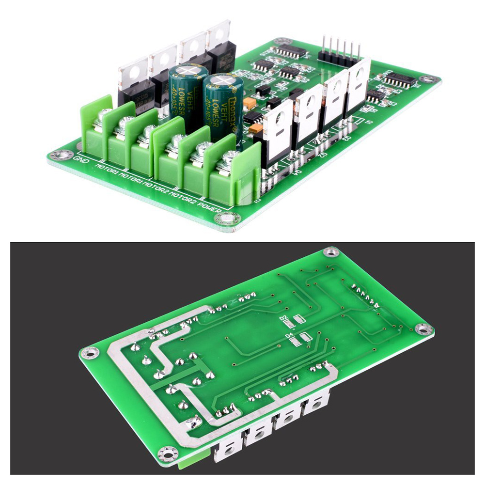 Dual Motor Driver Module,DC H-Bridge 3-36V 15A Motor Driver PWM Module Circuit Board MOSFET Driver Motor Driving Board for Ard sofirn flashlight driver circuit board anti reverse led driver chip for different models
