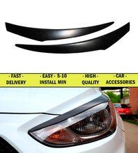 Реснички брови для Hyundai Solaris 2010-20111-2012-2013 АБС-пластик молдинги огни дизайн интерьера свет Тюнинг автомобилей украшения
